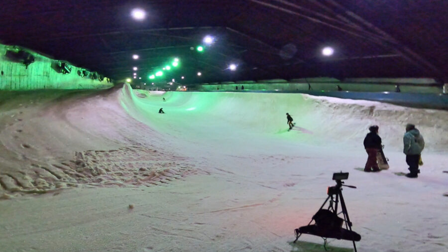 カムイみさかスキー場サマーシーズンハーフパイプ